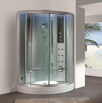 2 person corner steam shower