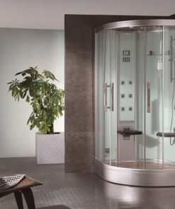 white glass ariel platinum steam shower
