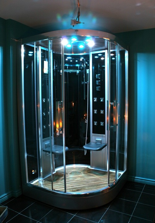 easy assembly of steam shower
