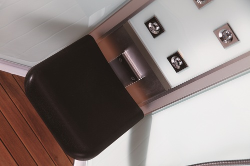 folding seat for steam shower