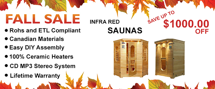 fall Infrared Sauna Sale