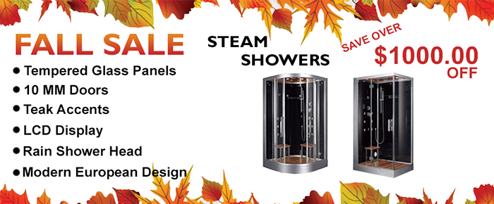 fall Steam Shower Sale