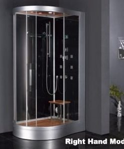 curved shower enclosure