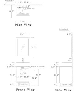 vanity Schematic drawing