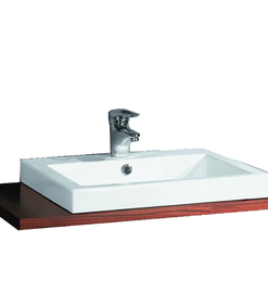 Semi mount square sink