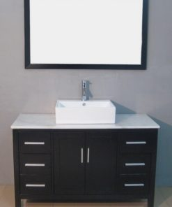 solid wood vanity