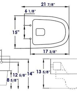 WD332 Wall hung toilet schematic