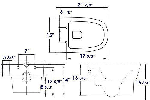 Dual Flush Wall Mount Toilet Wd332p Perfect Bath Canada