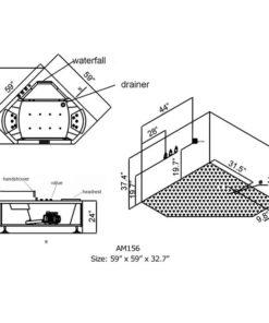 baignoire remous pour deux am156 perfect bath canada. Black Bedroom Furniture Sets. Home Design Ideas