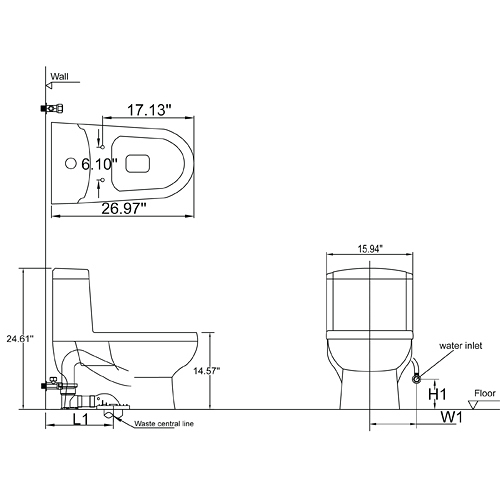 one piece dual flush toilet  watersense toilets