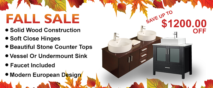 Fall Vanities Sale