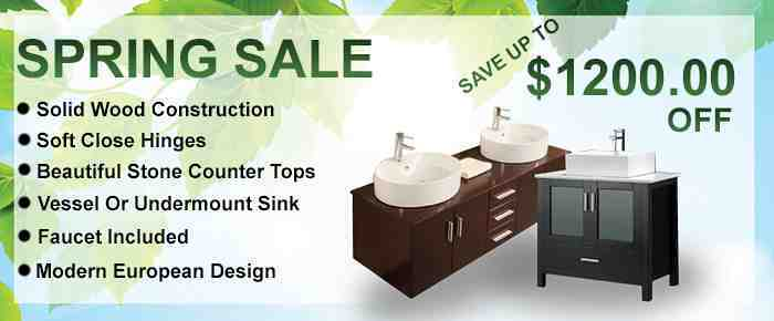 Bathroom Vanity Spring Sale