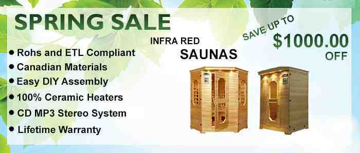 Sauna Spring Sale