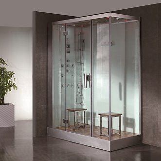DZ961F8-LH-White-1person-steam-shower-11