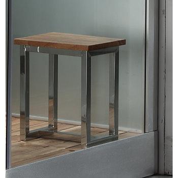 Metal-frame-stool-white