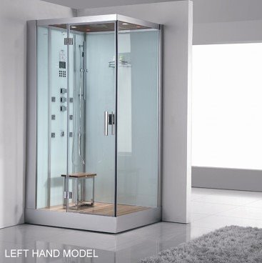 White ariel platinum DZ959 1 person steam shower