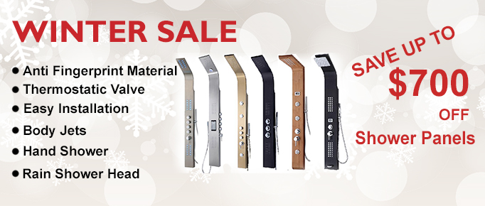Winter Shower Panels Winter Sale