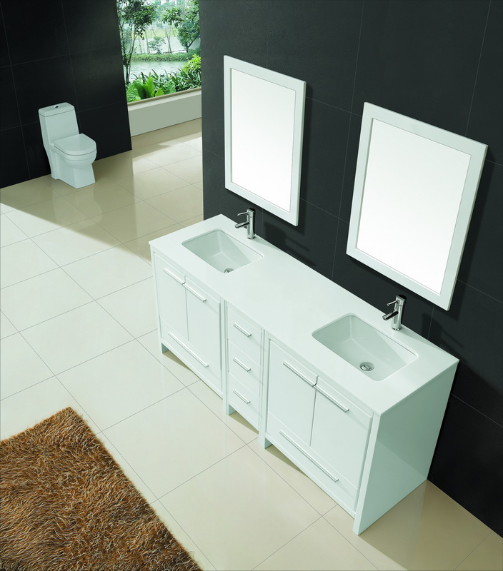 White Large double vanity