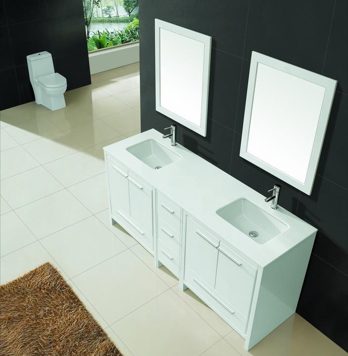 Double White Vanity