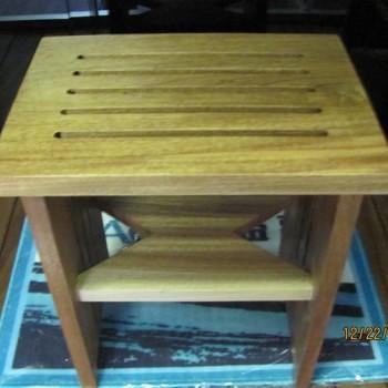 teak wood stool for shower