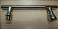 chrome metal door handle for shower