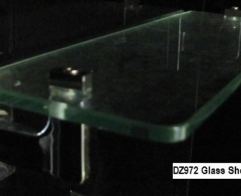 glass shampoo shelf with brackets