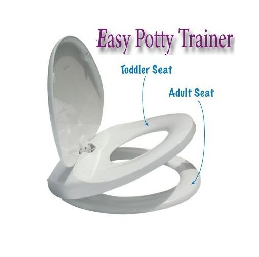 easy potty training toilet seat for children and adults integrated seat ebay. Black Bedroom Furniture Sets. Home Design Ideas