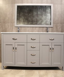 Dark Grey Double Vanity AG60Dc