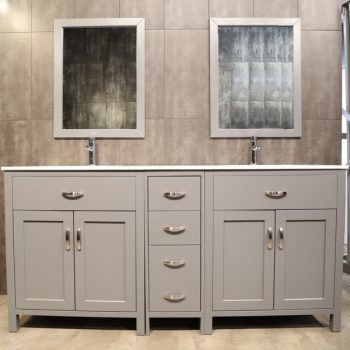large grey double vanity AG72D