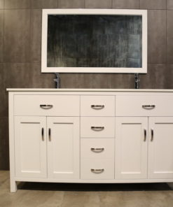 white double vanity LA60Dc
