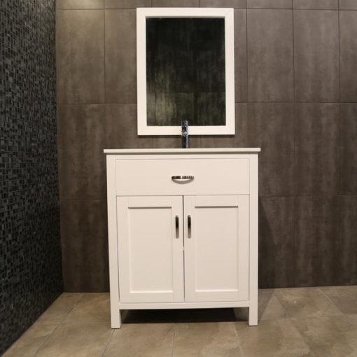 small white vanity